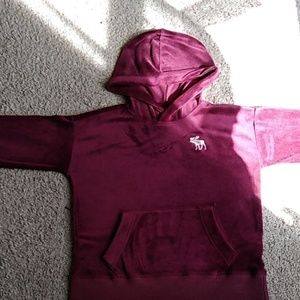 I'm selling a maroon Abercrombie and Fitch hoodie.